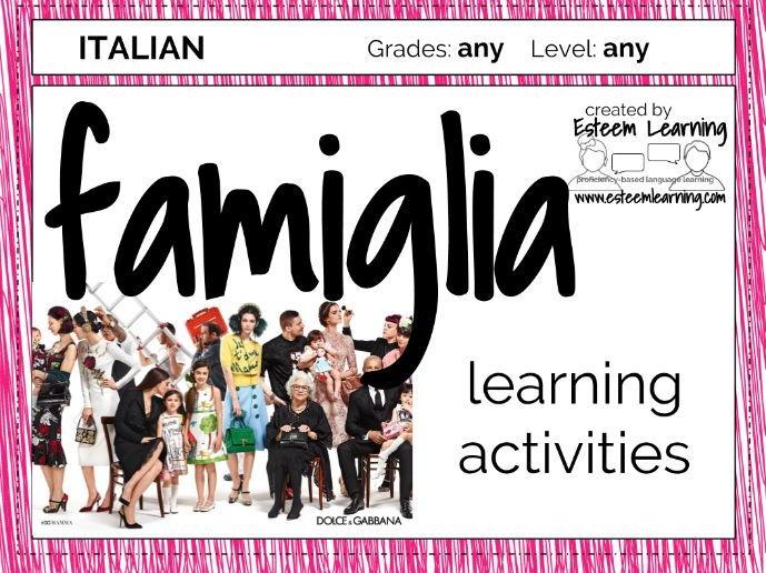 La Famiglia Activities