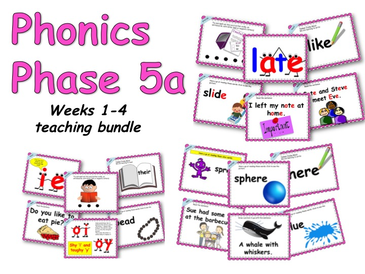 Phonics 5a bundle (weeks 1-4)
