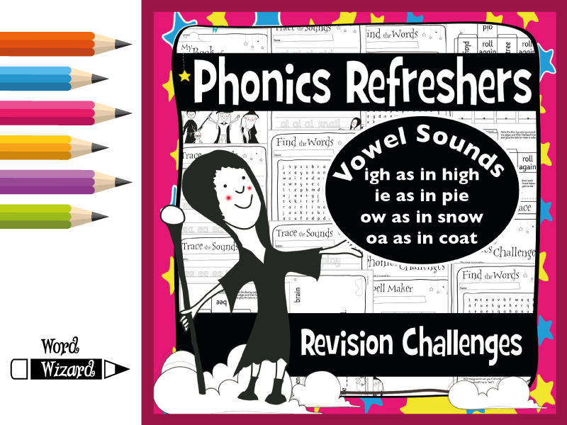 Phonics Refresher Vowels 2: igh, ie, ow, oa
