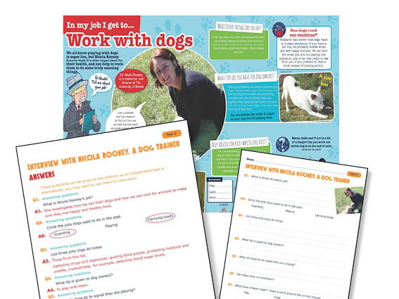 Year 2 Interview with a dog trainer Guided Reading