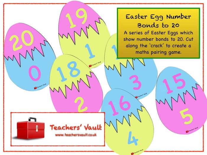 Easter Egg Number Bonds to 20