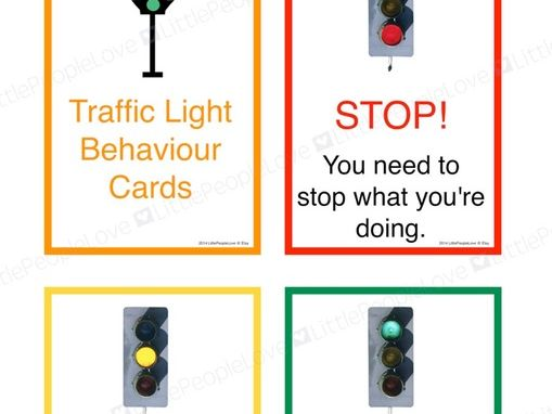 Traffic Light Behaviour Cards (Third Person)