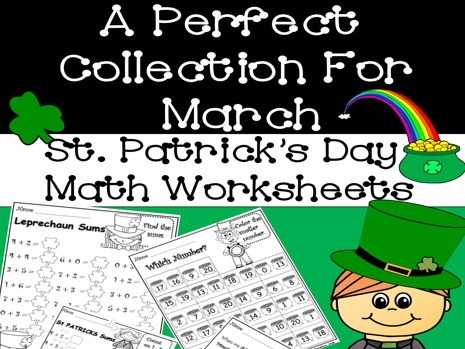 St. Patrick's Day Math Worksheets ( No-Prep )