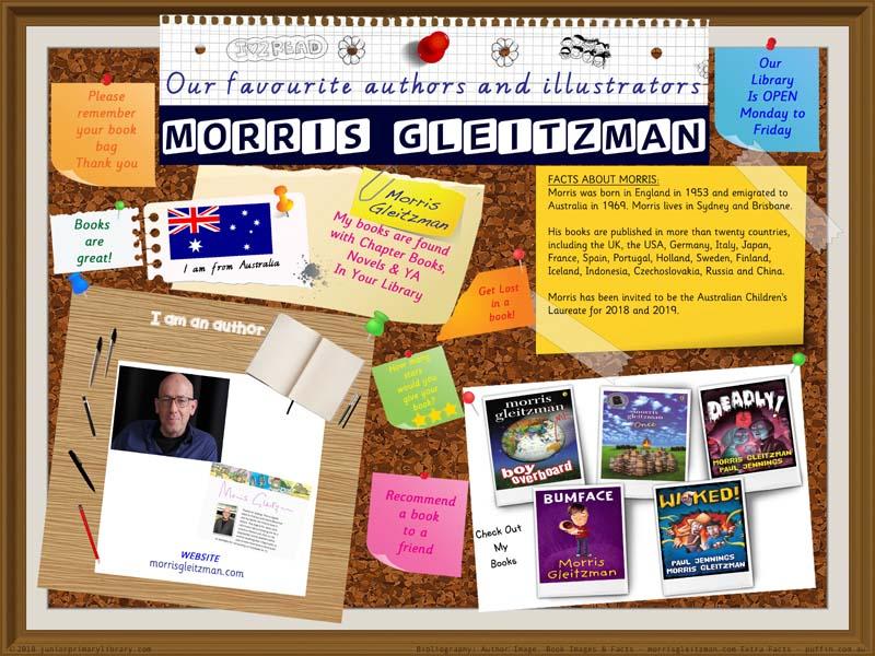Library Poster - Morris Gleitzman Australian Author Of Children's Books