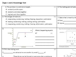 Edexcel CC1&2 Chemistry Knowledge Assessments