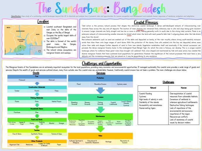AQA A Level Coasts Case Study - The Sundarbans