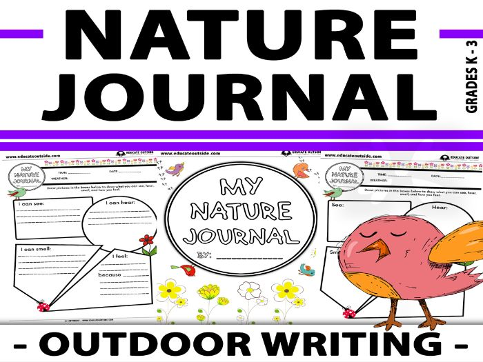Nature Journal - Outdoor Writing - Descriptive Writing