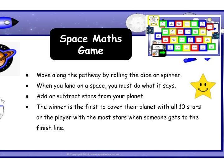 Space Maths Game KS1/SEN/EYFS