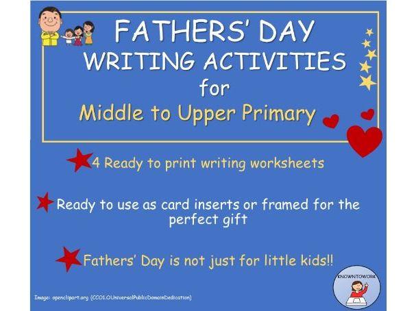 FathersDayWritingActivities + CraftIdeas