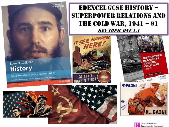 Edexcel GCSE History - Superpower relations & the Cold War - Topic 1.1 PPT