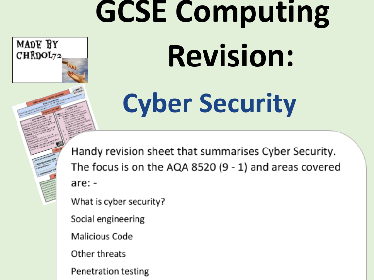 GCSE Computing Revision: Cyber Security