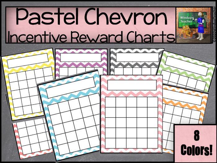 Chevron Sticker Reward Charts - Pastel
