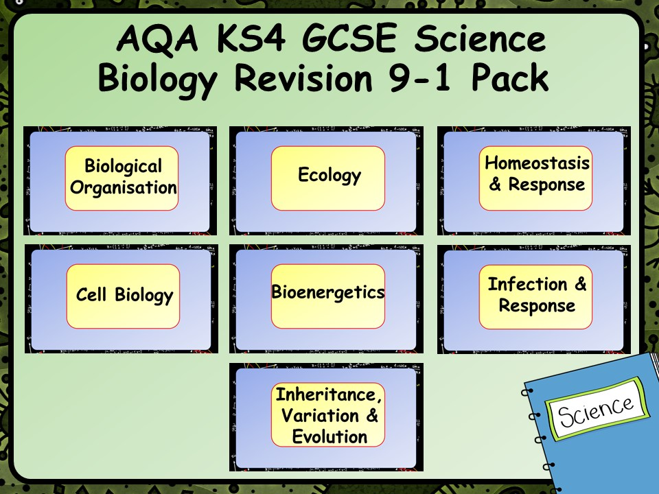 AQA KS4 GCSE Science Biology Revision 9-1 Pack by chalky1234567 | Teaching Resources