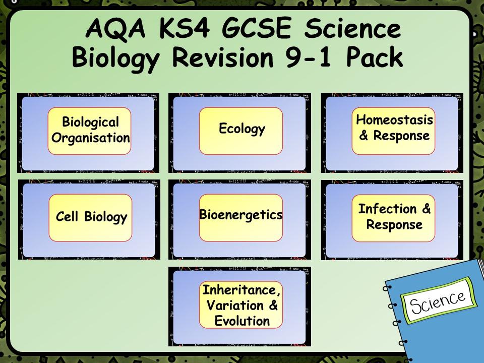 AQA KS4 GCSE Science Biology Revision 9-1 Pack