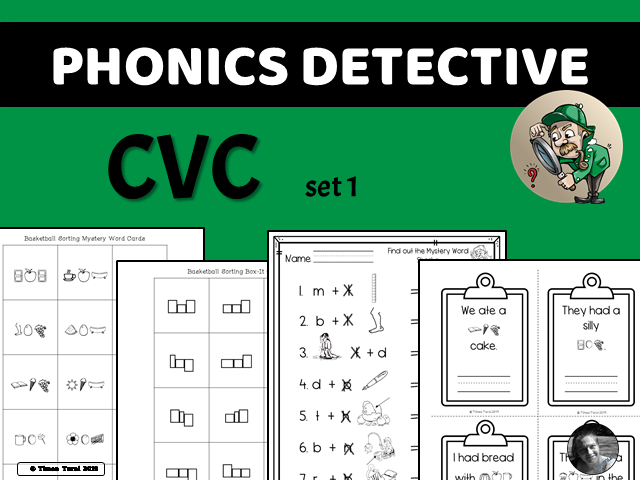 Phonics Detective -- CVC Set 1