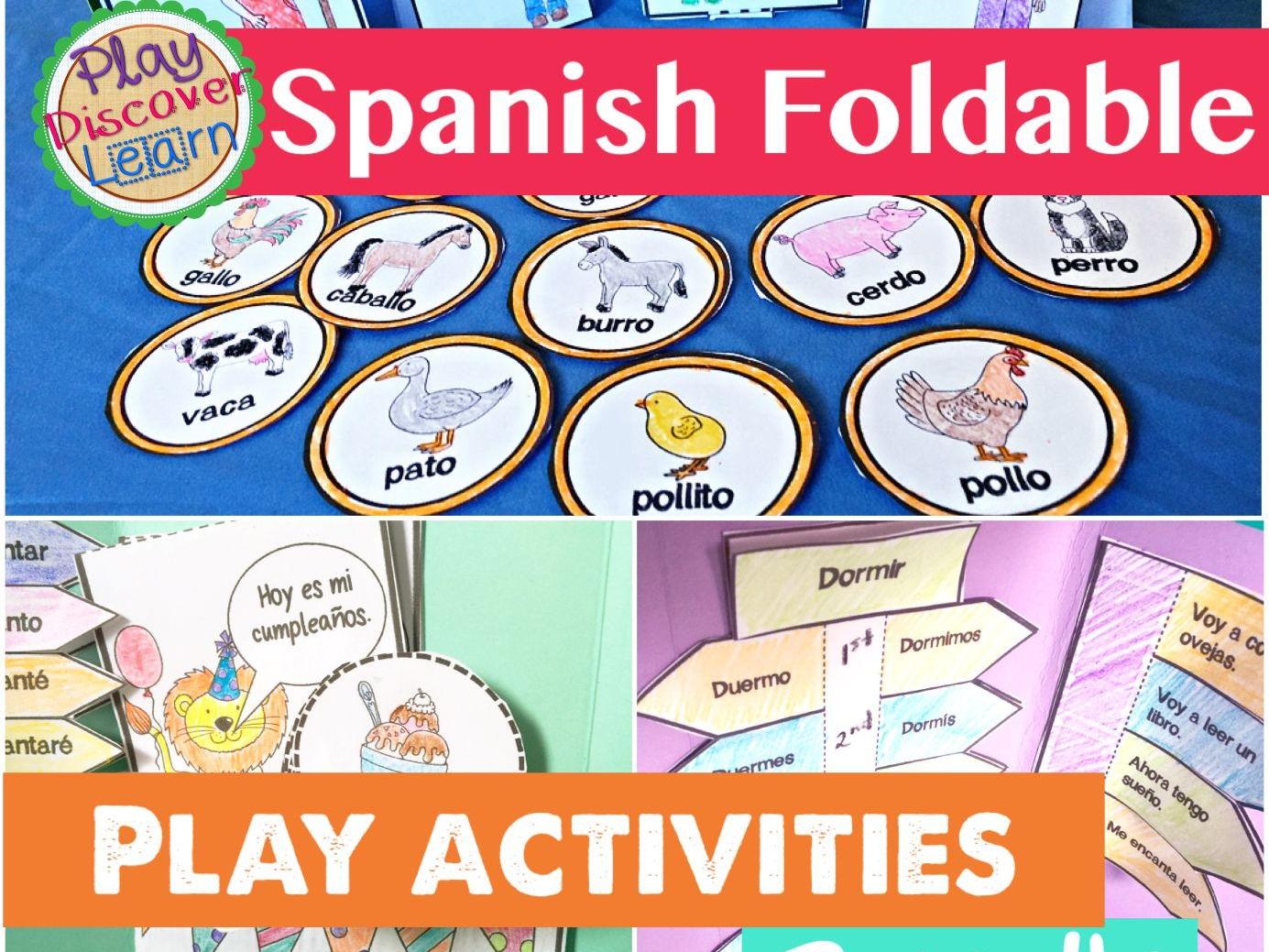Spanish Foldable Play Activity Bundle