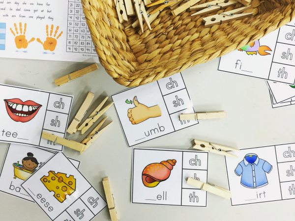 Digraph Activities /ch/ /sh/ /th/