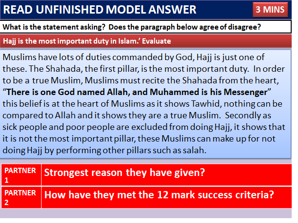 PILGRIMAGE: CHRISTIANITY/ISLAM   AQA RELIGIOUS COMPONENT Suitable as a lesson or revision lesson