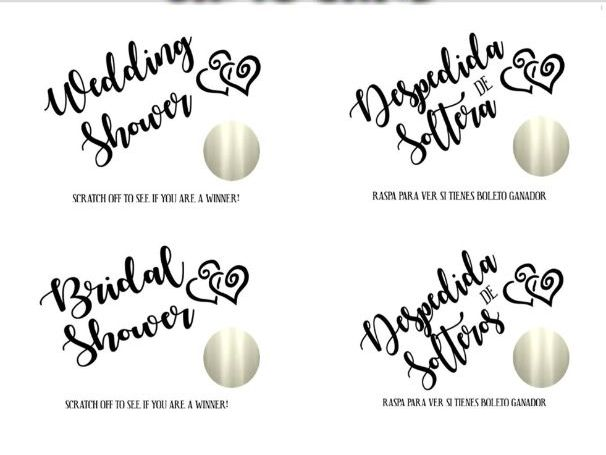 SCRATCH OFF BRIDAL SHOWER GAME BRIDAL SHOWER IDEAS ☆ GAMES