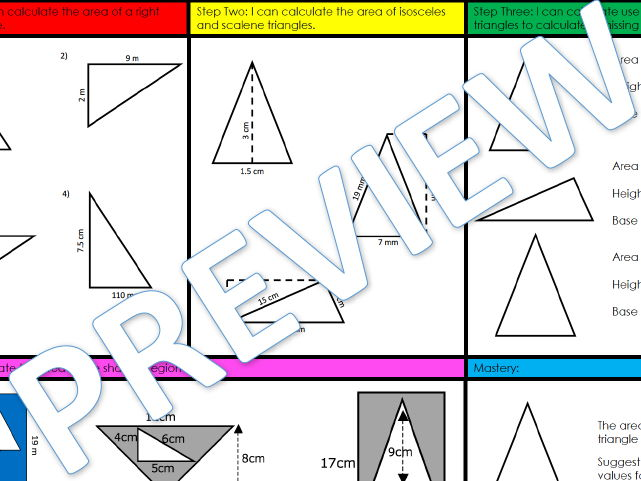 Volume of Triangles, Parallelograms and Trapezia