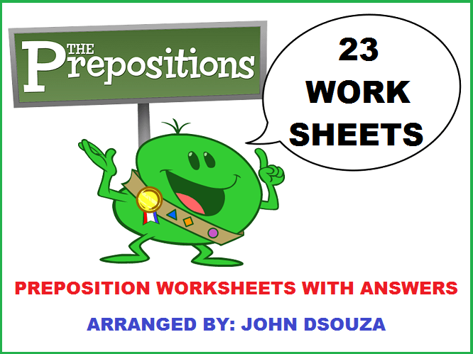 PREPOSITIONS WORKSHEETS WITH ANSWERS