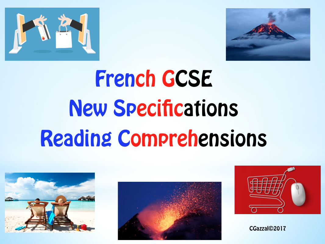 French GCSE Reading Comprehensions- New Specifications
