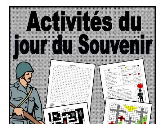 French Remembrance Day Activities