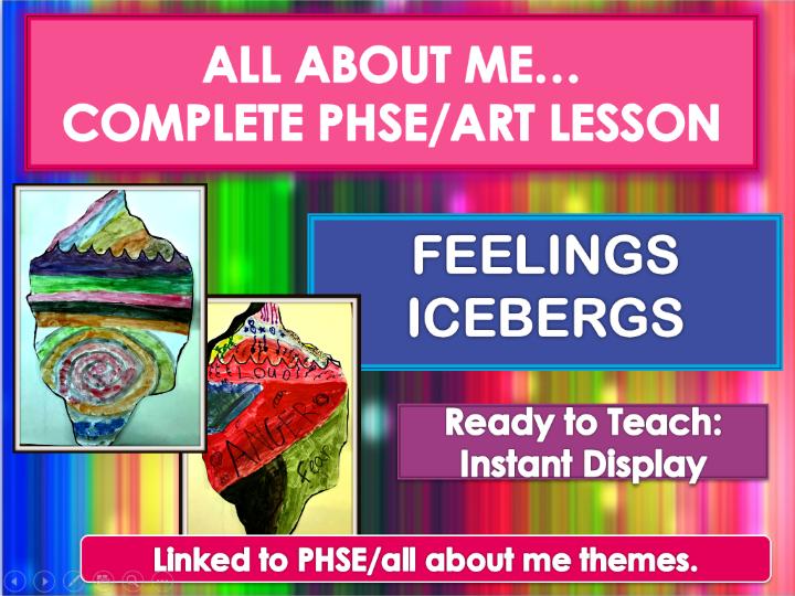 Expressing feelings through art - Feelings ICEBERGS - complete lesson (outstanding)