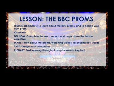 BBC Proms Music Lesson - no equipment needed
