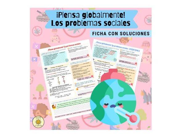 ¡Piensa globalmente! Los problemas sociales + subjuntivo. Spanish GCSE social issues. With answers