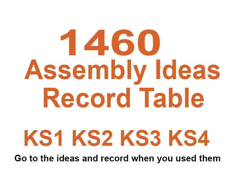 Assembly Videos KS1 KS2 KS3 KS4 with Record Tables