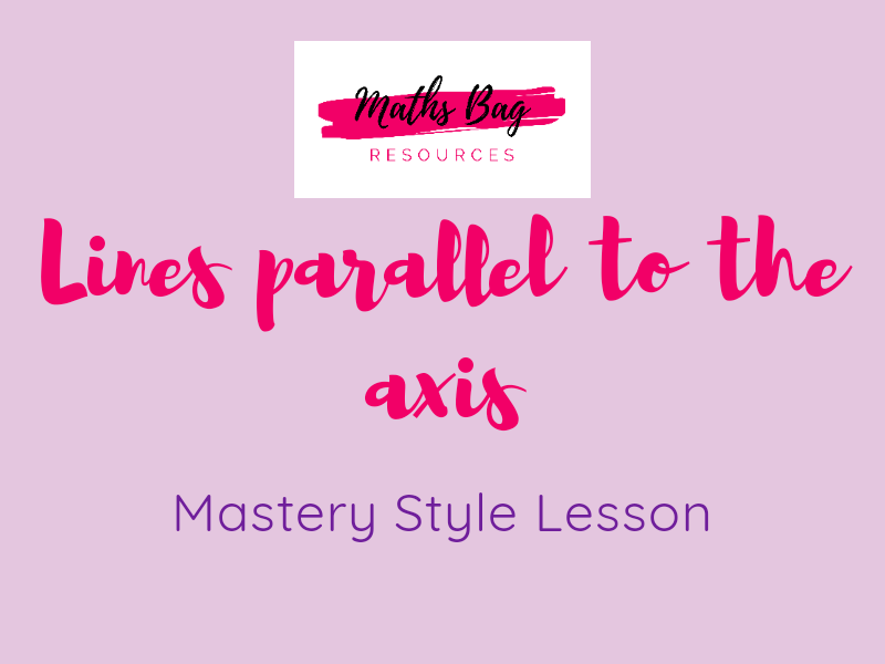 Lines parallel to the axis, x = y and x = -y - mastery style lesson