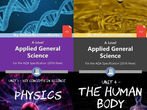 AQA Applied Science A-Level - Unit 1 and 4 Bundle