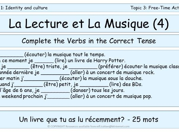 GCSE Vocabulary and Sentence Level Tasks THEME 1 TOPICS 3 & 4