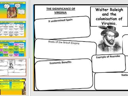 Lesson 27/28 GCSE Edexcel 1-9 Elizabethan England - Colonisation of Virginia and its failure.