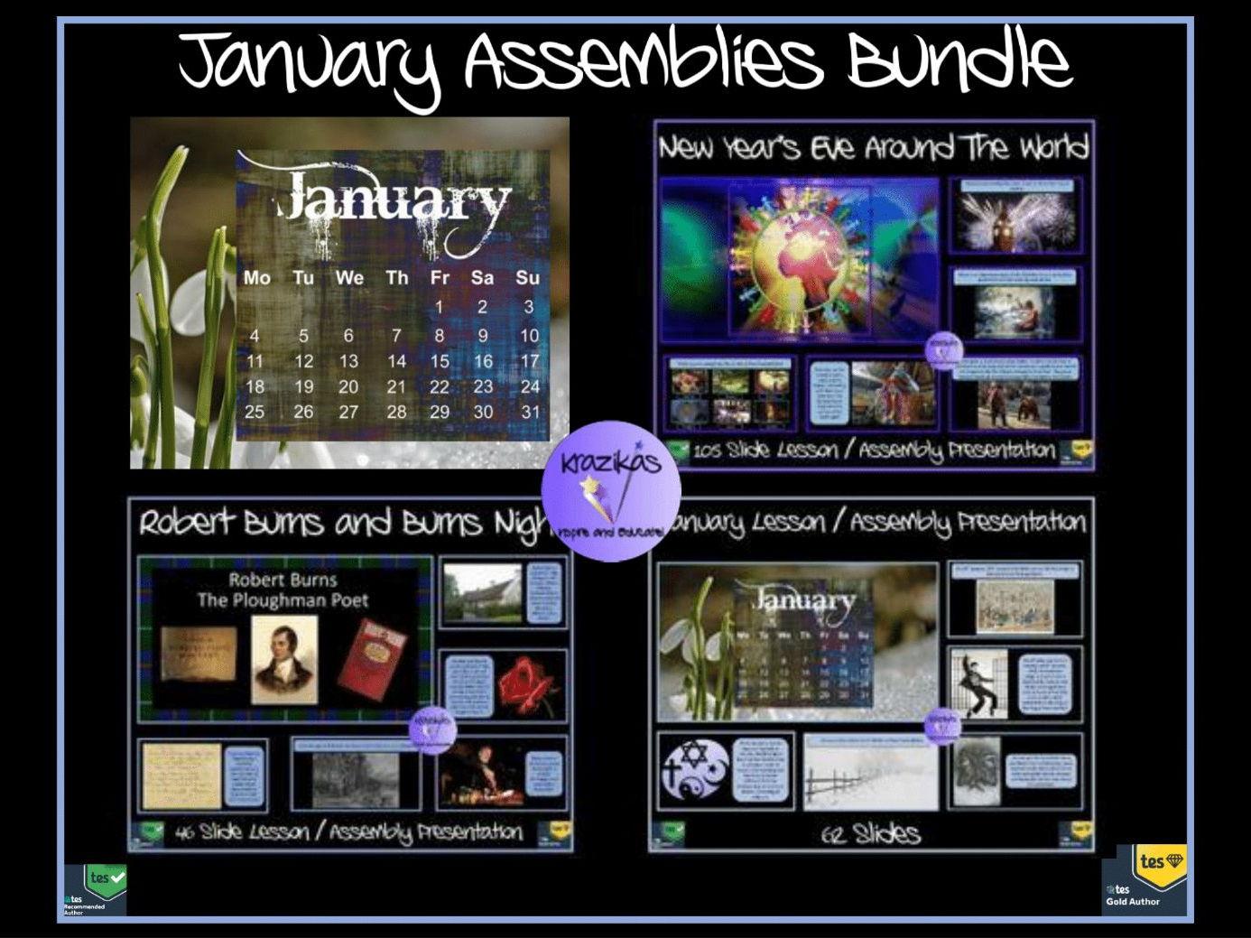 January Assembly Presentations Bundle