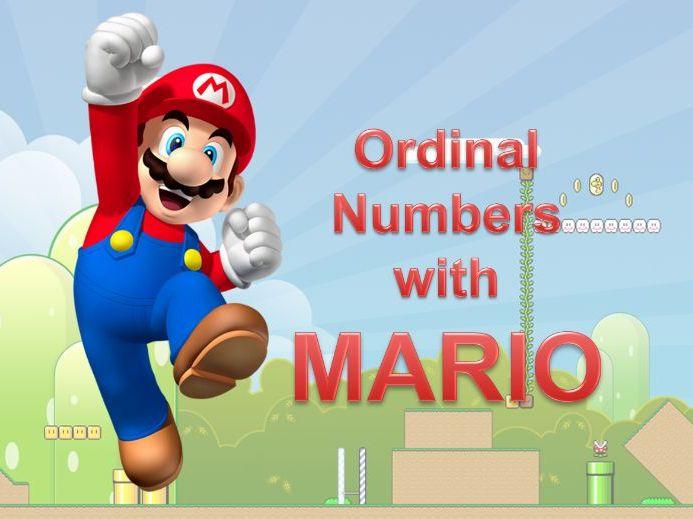 Ordinal Numbers Review Game - Mario Bomb Game - Grades K-1