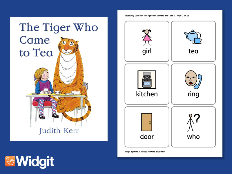 The Tiger Who Came to Tea - Big Book Flashcards with Widgit Symbols