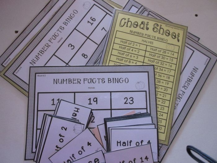 BINGO GAMES - 2 board/card games - Doubling and Halving