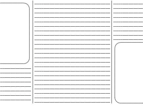 A blank brochure/booklet for children to write on (with lines).