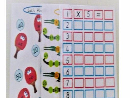 5 Times Table Activity Boards