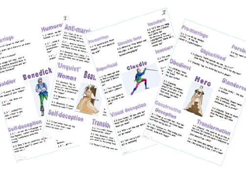 Much Ado Revision Posters: Couples Bundle