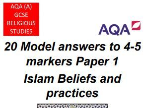 GCSE AQA A RS Paper 1 Islam 20 Model Answers (4/5 markers)