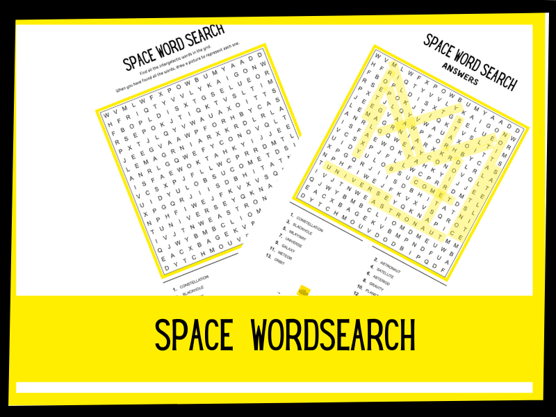 Space wordsearch | KS1 KS2
