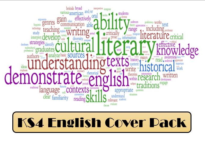 KS4 GCSE English Cover Pack (Language & Literature for 2017 exams onward)
