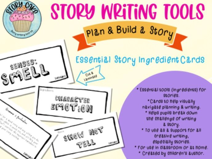 Story Tool/Ingredient Cards - for planning & building a story - Creative writing, story writing.