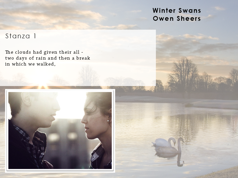 AQA Poetry Differentiated - Winter Swans (Love and Relationships Unit)(KS4)