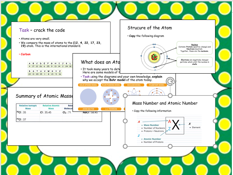 A level Chemistry Transition/Taster Lessons