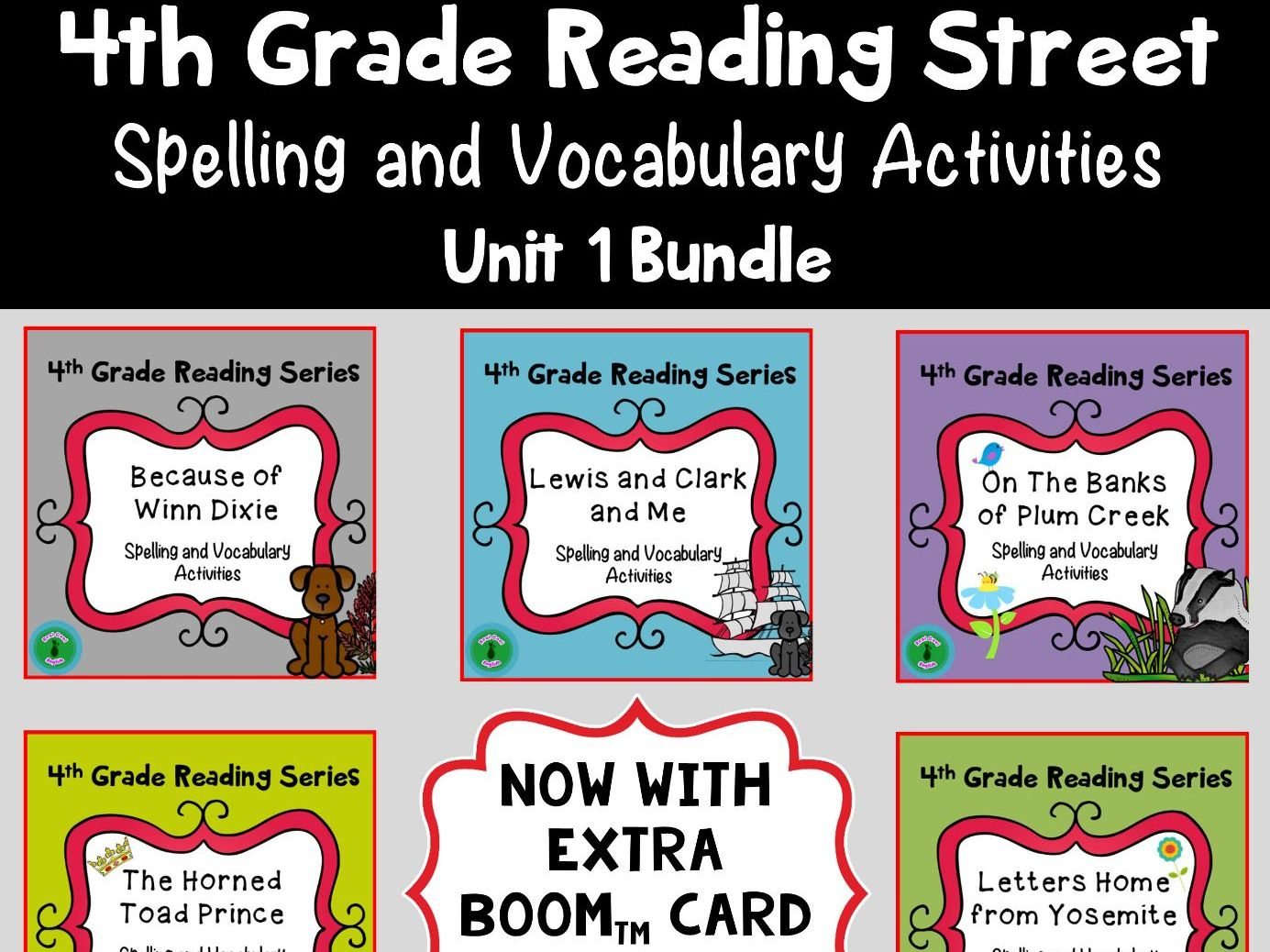 4th Grade Reading Street Spelling and Vocabulary Unit 1 (printable & digital)