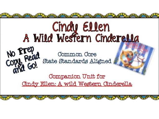 No Prep Book Unit for Cindy Ellen: A Wild Western Cinderella